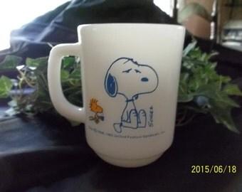 Anchor Hocking Fire-King Snoopy-Coffee Mug