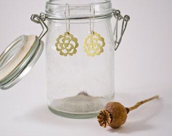 Rose Lace Dangle Earrings