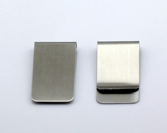 Money Clip for Dad Personalized Money Clips Handmade Money Clips Groomsmen Gift make the initials yourself  Stainless Steel ID 26424