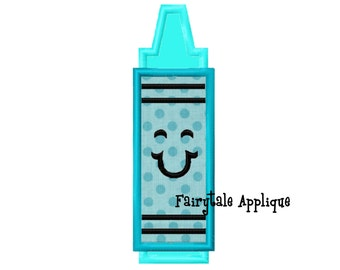Digital Machine Embroidery Design -  Crayon Applique