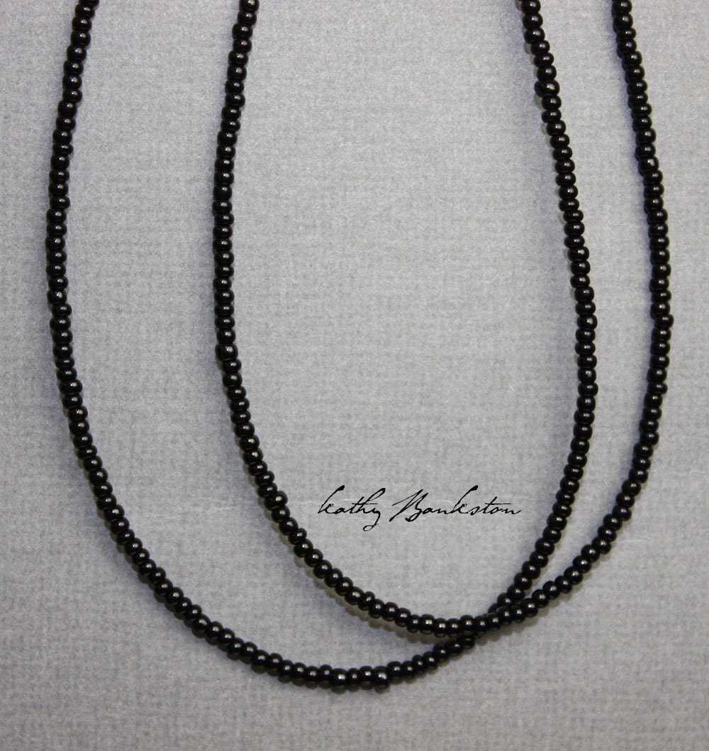 black seed bead necklace black seed bead by kmbankston