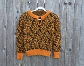 Pop'in Sweater//Knit//Small//Extrasmall//Womens//70's//Floral