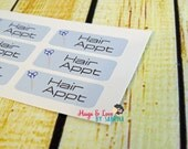 Hair Appointment Planner Sticker - Size Customize-able