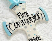 Personalized First Communion Cross Ornament