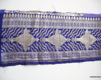 Handwoven Indian Sari Zari Brocade Trim / Border Sold by Yard
