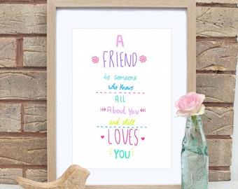 A4 Best Friend Print