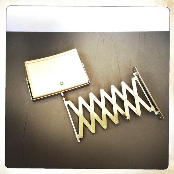 Vintage Chrome Scissor Arm Vanity Mirror Extension Accordion