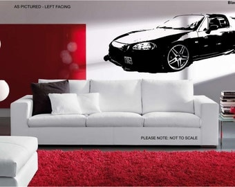 Honda Del Sol Modified Car - Wall Art Sticker - 2 sizes