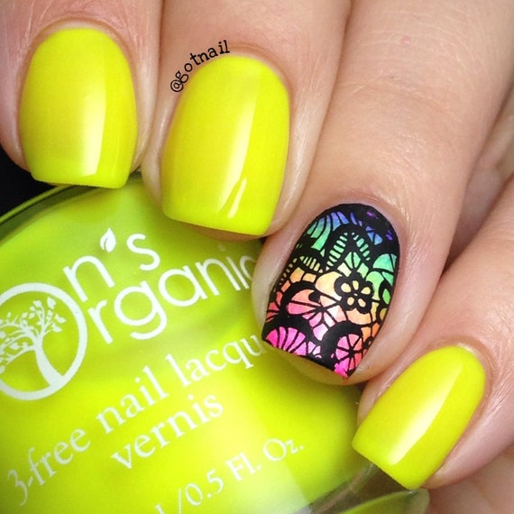 Fearless - 5 Free MATTE Neon Yellow Nail Polish - Glow-in ...
