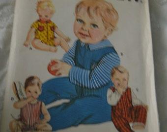 Kwik Sew 444 Infants Coveralls Sewing Pattern - UNCUT - Sizes  S - M - L