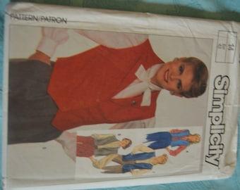 Simplicity 7669 Misses Set of Unlined Vests Sewing Pattern - UNCUT Size 14