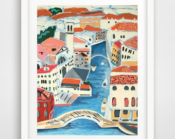 PRINT - Title: Geometry - Venice, Italy by Nicole Werner Stevens