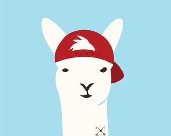 Cool Dude Llama - Greeting Card