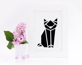 """""""Postcard, origami cat"""""""