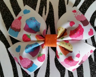 My Little Cupcake hair bow