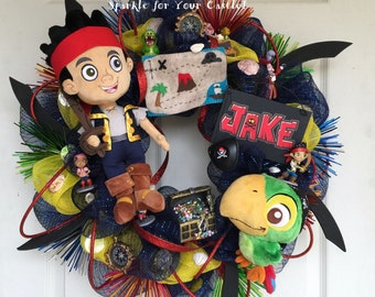 Jake and the Neverland Pirate Wreath, NEW DESIGNED MAP