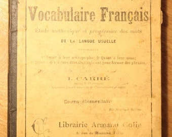 Vocabulaire Francais, item # 26