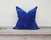 """Organic hamp, Indigo pillow cover, pillow cover,tie dye pillow cover 18"""" x 18"""""""