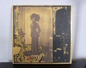 Vintage French Collage - wooden panel