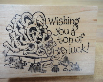 Rubber Duck Tons of Luck Rubber Stamp