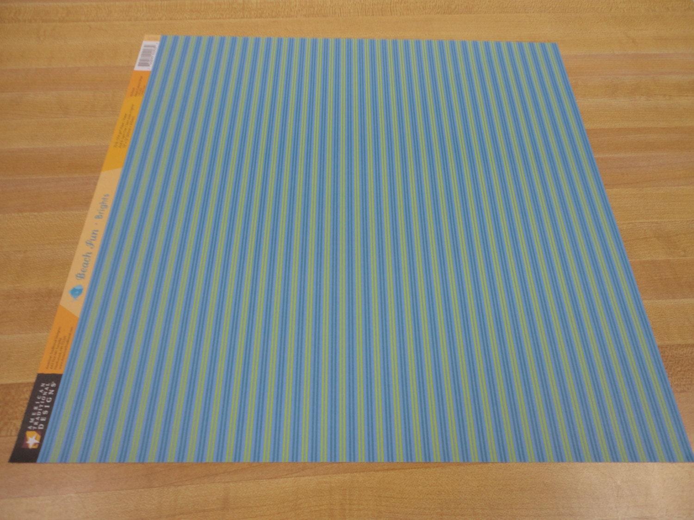 Scrapbook paper beach -  1 25