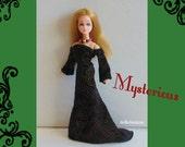 DAWN Doll Clothes - Handmade Gown and Necklace - Custom Fashion by DOLLS4EMMA