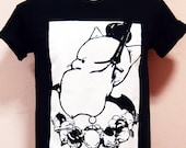 FFXIV a realm reborn Primal King Moogle with the Gangster in plastisol color - Unisex Adult T-Shirt Black Tshirt featured image