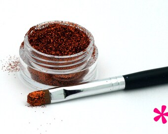 COPPER Cosmetic Glitter for Makeup, Eye Shadow, Lips, Nail Polish, Body Shimmer & Hair Sparkle (A012)