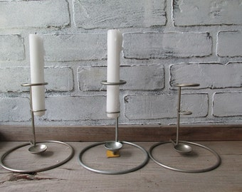 Vintage Candle Holder Aluminum Industrial Wedding Rustic Wedding