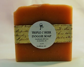 Doggie Vegan Beer Cold Process Handmade Soap with Neem Oil