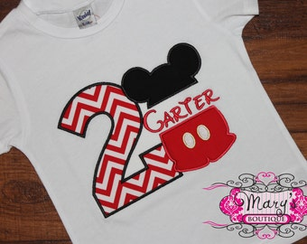 Personalized Split Mickey Birthday Shirt
