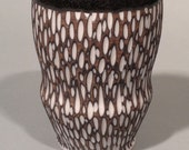Black and White Carved Cup