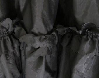 Vintage Black Crinoline Petticoat
