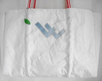 Double L insignia recycled sail sea bag