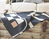 Merino Lambswool Blanket - Wharf