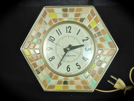 Retro GENERAL ELECTRIC Mosaic Tile Kitchen Wall By