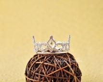 Newborn baby crown, baby tiara, girl tiara, princess baby, room decor, princess