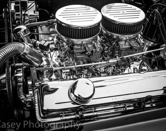 Muscle Car, fine art Photography, Black and white, wall art, home décor, car photography, vintage, truck, auto, gift, print