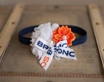 Denver Broncos Headband, Denver Broncos Baby Heaband, Broncos Girls Headband, Great Photo Prop