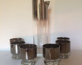MCM Mercury Glass Pitcher & Bar  Set