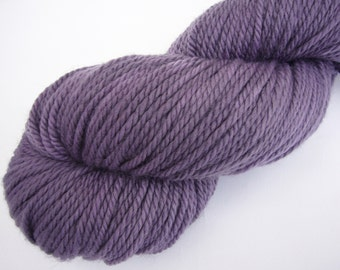 Hand dyed yarn  Aran weight  100% Superwash Merino - Dusty purple