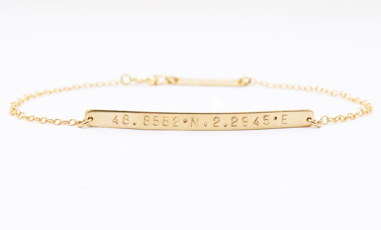 custom coordinates bracelet coordinates bar bracelet gps