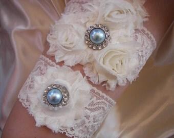Lace Bridal Garter Set , Wedding Garter , Garter , Shabby Chic Wedding, Wedding Garter Set, Ivory Garter ,Toss Garter