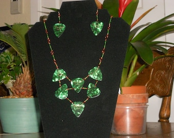 Fender Guitar Pick Necklace, Green Celluloid