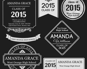 Senior Graduation Word Arts Photo Overlays - PSD - ID180 Instant Download