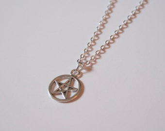 Silver Star Pentagram Necklace