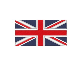 Union Jack British United Kingdom Flag Embroidery Design