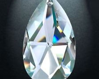 ONE Asfour Crystal Clear Teardrop 50mm Chandelier Prisms Shabby Chic