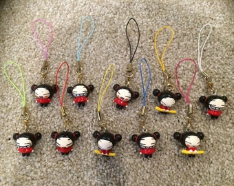 10 Pucca Anime Phone Charms Necklace Jewelry