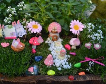 PINK WASHING DAY Fairy Garden kit